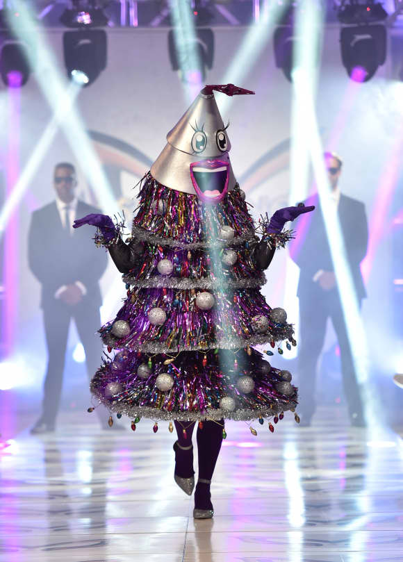 """""""The Tree"""" participates in a runway show for the premiere of Fox's """"The Masked Singer"""" Season 2 at The Bazaar at the SLS Hotel Beverly Hills on September 10, 2019"""