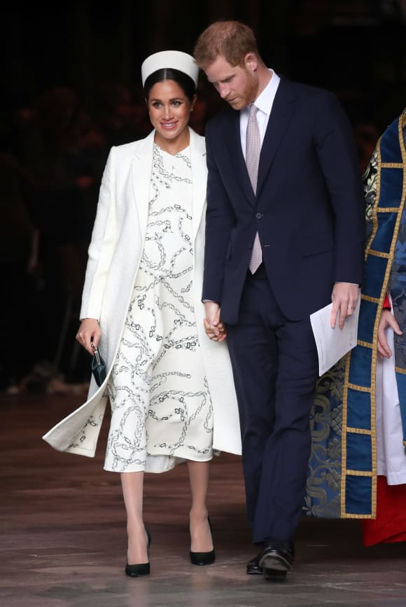 Meghan and Harry leave the Commonwealth Service on Commonwealth Day at Westminster Abbey
