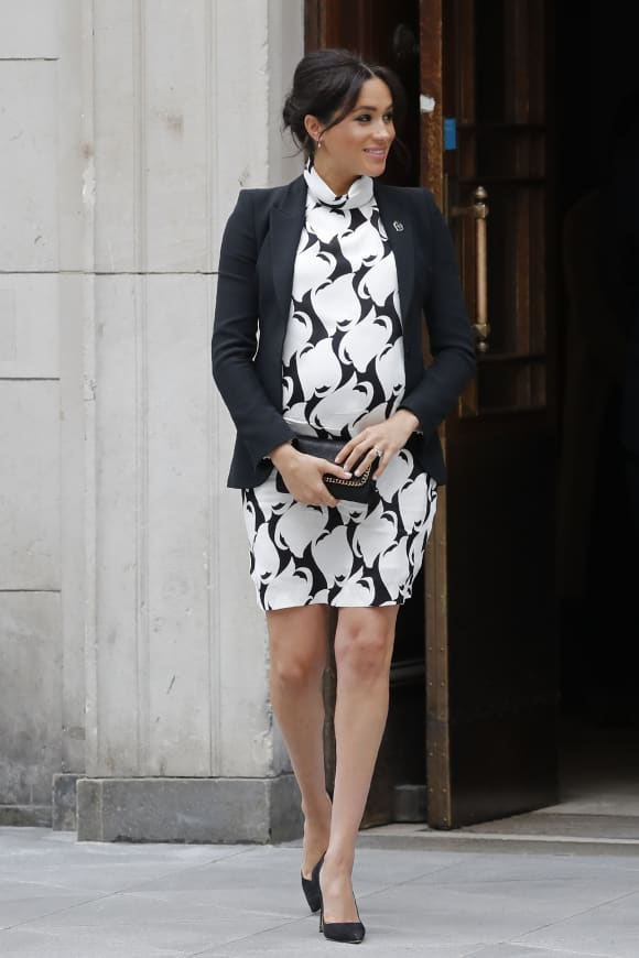 Meghan attends a panel discussion to mark International Women's Day