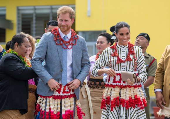 The Duke and Duchess of Sussex in Tonga