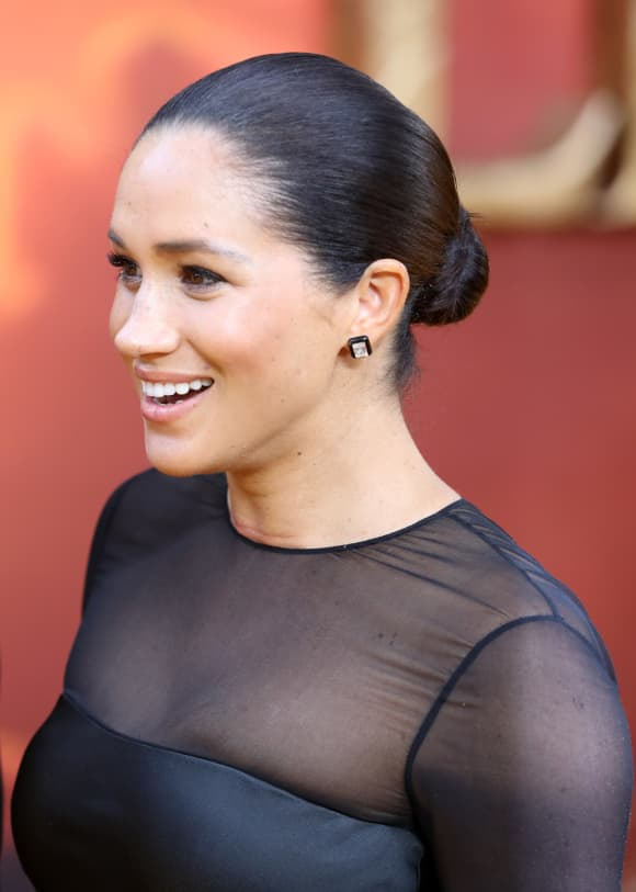 Duchess Meghan at the premiere of The Lion King in London