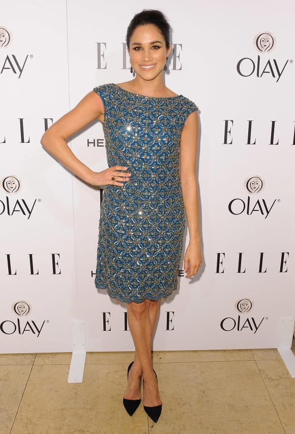 Meghan Markle attends ELLE's Annual Women in Television Celebration at Sunset Tower on January 22, 2014
