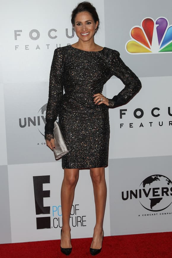 Meghan Markle arrives at NBC Universal's 70th Annual Golden Globe Awards after party held at the Beverly Hilton Hotel on January 13, 2013