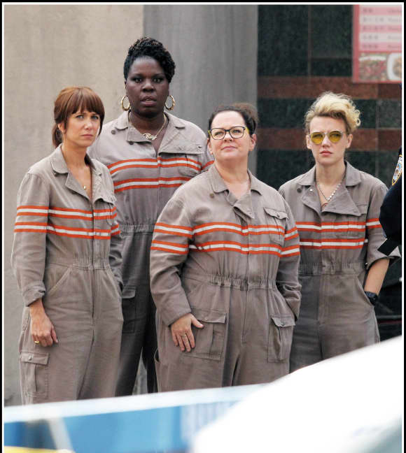 Melissa McCarthy and the cast of 'Ghostbusters'