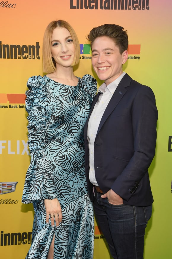 Molly Bernard and Hannah attends as Entertainment Weekly Celebrates Its Annual LGBTQ Issue at the Stonewall Inn on June 05, 2019