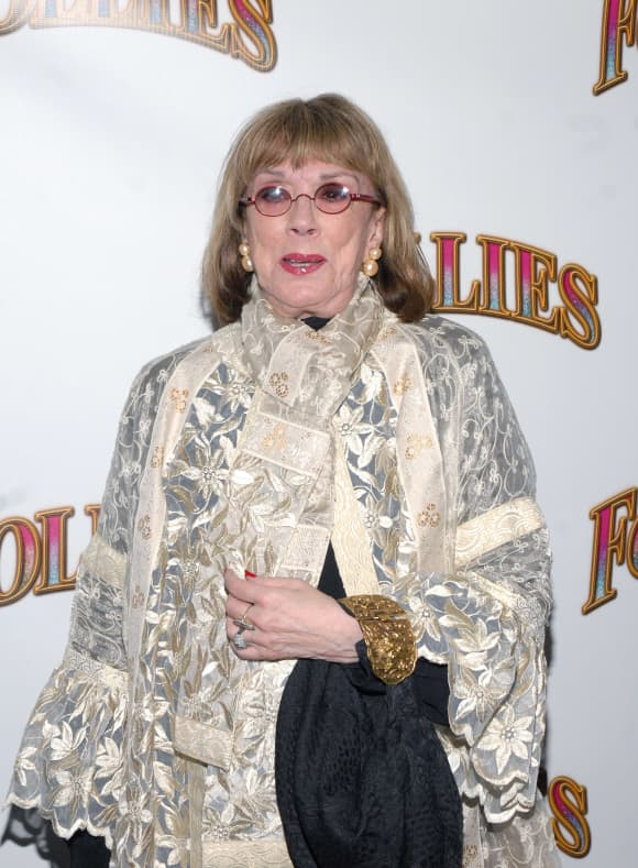 """Phyllis Newman attends the """"Follies"""" Broadway opening night at the Marquis Theatre on September 12, 2011 in New York City."""