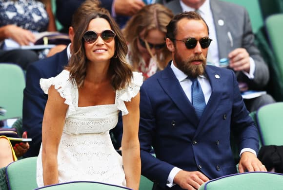Pippa and James Middleton at Wimbledon 2018