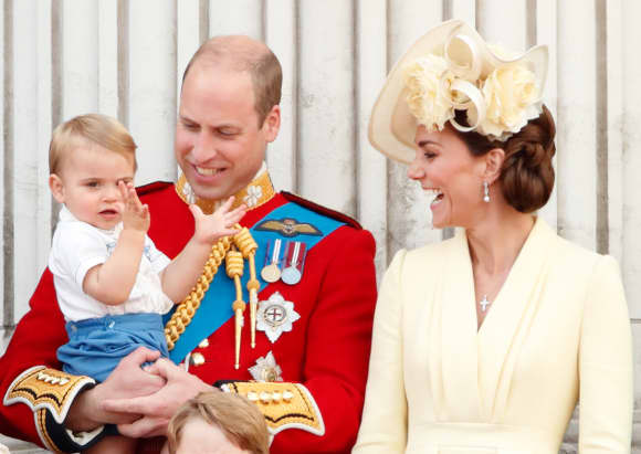Prince Louis Prince William Duchess Catherine 2019 Trooping The Colour Balcony