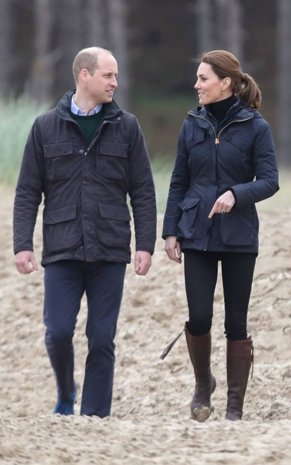 The Duke and Duchess of Cambridge participated in beach litter picking while in north Wales.