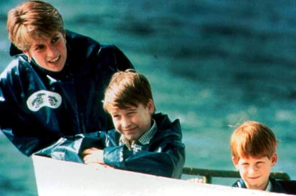 Princess Diana, Prince William and Prince Harry Boat