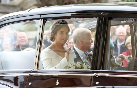 The bride and her father: Princess Eugenie and Prince Andrew, the Duke of York.