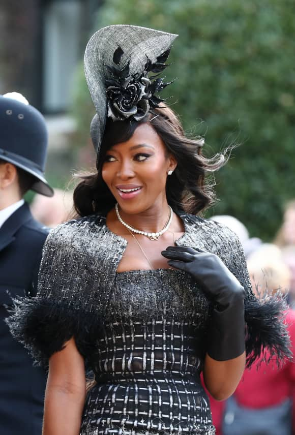 Naomi Campbell St.George's Chapel Eugenie Wedding Windsor