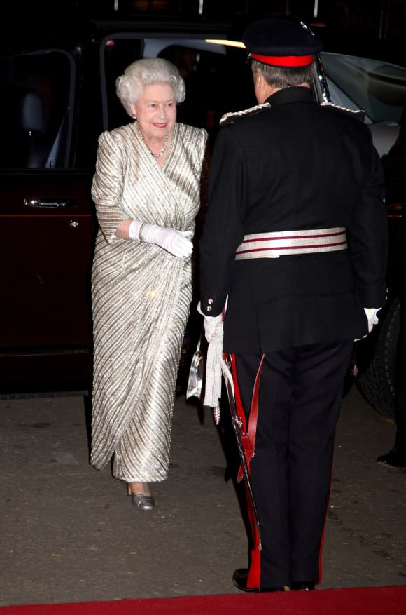 Queen Elizabeth at the Royal Albert Hall in 2012
