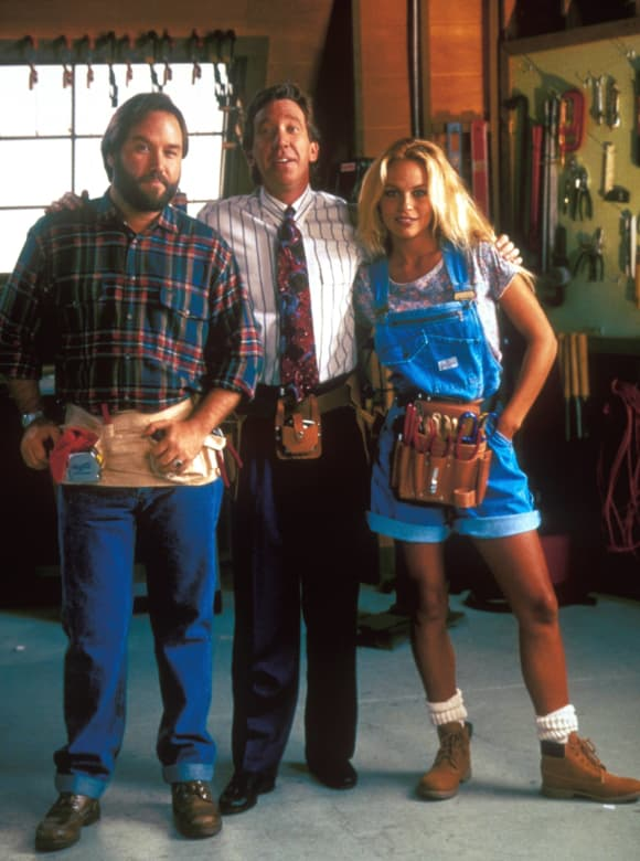 RIchard Karn, Tim Allen and Pamela Anderson in 'Home Improvement'