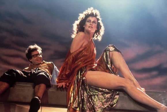 """Rick Moranis and Sigourney Weaver in """"Ghostbusters"""""""