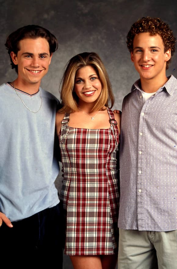 The Boy Meets World cast: Rider Strong, Danielle Fishel and Ben Savage.