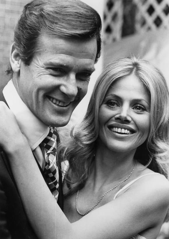 Roger Moore and Britt Ekland