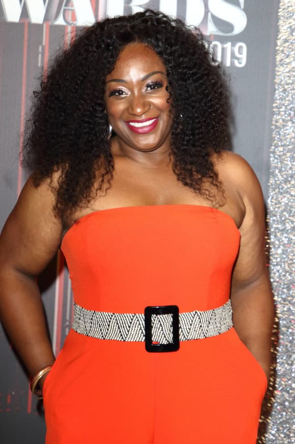 Sandra Marvin was all smiles at the 2019 British Soap Awards.