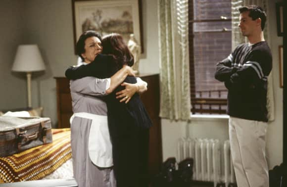 Shelley Morrison, Megan Mullaly and Sean Hayes Will & Grace