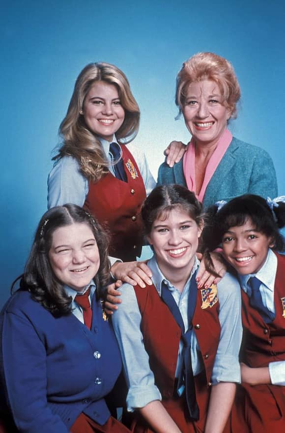 The cast of the popular show 'The Facts of Life'.