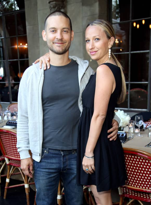 Tobey Maguire and Jewerly designer Jennifer Meyer on June 18, 2014